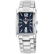 Tommy Hilfiger Three-hand Silver-tone Stainless Steel Men'...