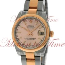Rolex Datejust 31mm, Pink Champagne Dial, Domed Bezel - Rose...