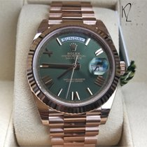 Rolex Day-Date in Rose Gold 40mm with Green Olive Dial