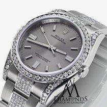 ロレックス (Rolex) Oyster Perpetual 36mm Steel Index Diamond Watch...