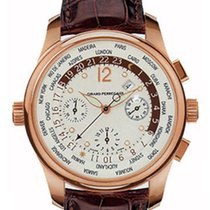 Girard Perregaux World Time Chronograph 18K Rose Gold Men'...