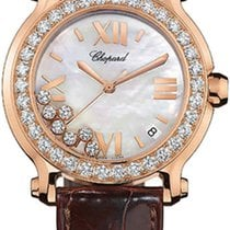 Chopard 277473-5002Happy Sport 36mm Gold Diamonds Pearl Lady
