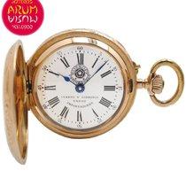 Roskopf Cuervo y Sobrinos Pocket Watch 18K Gold
