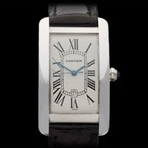 Cartier Tank Americaine 18k White Gold Gents 1741 - W3231