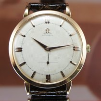 Omega 18K Pink Oversize 38mm Bumper Automatic Textured Dial...