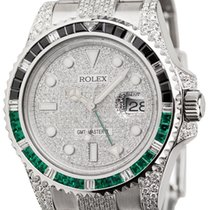 Rolex GMT-Master II Steel Custom Diamond Set Watch with...