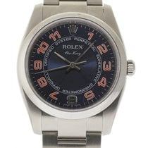 Rolex Air-King 114200 34mm Steel Blue Orange Arabic Box/P #115-1