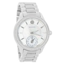 Movado Bellina Motion Ladies Diamond MOP Swiss Quartz Watch...