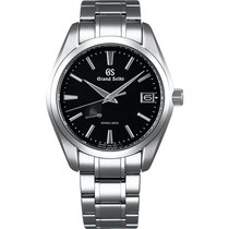 Seiko Spring Drive Black Dial Men's Stainless Steel Watch...
