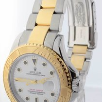 Rolex Mens Yacht-Master 18k Yellow Gold & Stainless Steel...
