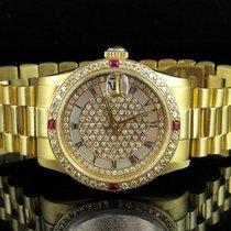 Rolex 31MM Midsize President Datejust 18K Yellow Gold 68278...