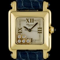 Chopard 18k Yellow Gold White Roman Dial Happy Sport 27/6851-23
