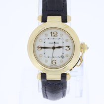 Cartier Pasha  Midsize 18K Gold Automatic with diamonds