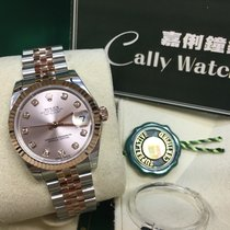 Rolex Cally - 178271 Pink Dia Datejust 31mm Steel Rose Gold