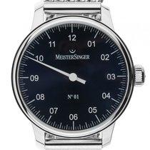 Meistersinger No.1 Einzeigeruhr Stahl Handaufzug Armband Stahl...