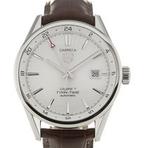 TAG Heuer Carrera 41 Automatic Silver Dial Leather Calibre 7