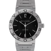 Bulgari Gents Steel Black Dial, Ref: BB23SS
