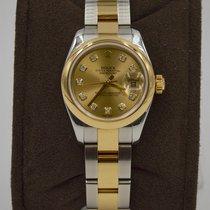 Rolex Lady-Datejust Champagne Diamond Dial 179163