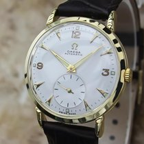 Omega 18k Solid Gold Swiss Made 33mm Bumper Automatic Men'...