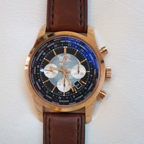 Breitling Transocean Chronograph Unitime Rose Gold Mens Watch