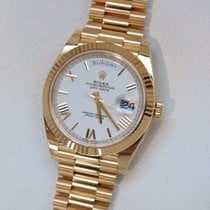 Rolex Day-Date 40MM Yellow Gold White Dial Watch