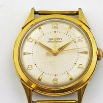 Gruen Precision Gold Plated Stainless Steel Manual Wind Watch