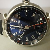 Louis Vuitton Q1157 Tambour Gmt Automatic 40mm Blue Dial Auto...