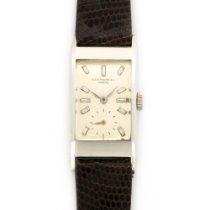 Patek Philippe Vintage  Platinum Rectangular Diamond Watch...