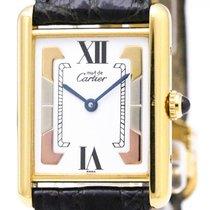 Cartier Must Tank Vermeil Gold Plated Quartz Ladies Watch...