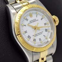 Rolex Oyster Perpetual 67243 18k Yellow Gold/steel Ladies...