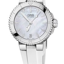 Oris Aquis Date 36, Mother of Pearl Dial, Rubber Bracelet