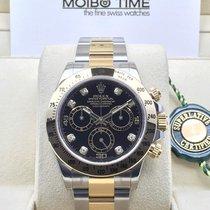 勞力士 (Rolex) Daytona 116523 18ct Gold Steel Black Diamond Dial...