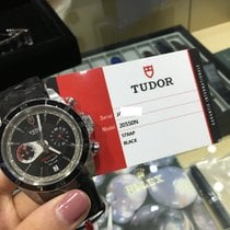 Tudor Cally - 20550N Leather Grantour Chronograph Fly-Back  [NEW]