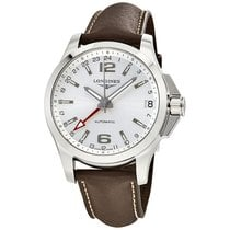 Longines Conquest Silver Dial Automatic GMT Mens Watch L36874764