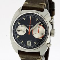 Enicar Big Eye Vintage Chronograph Valjoux 234 Tritium  Dial