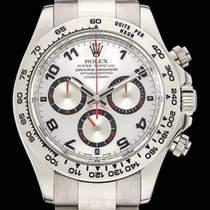 Rolex Daytona White Gold 18k Silver Racing Dial