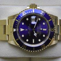 Rolex [Service+Purple Dial+Near NOS] Submariner Date Gold