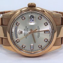 Rolex President Day-date Oyster 18k Rose Gold Factory Diamond...