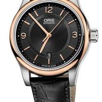 Oris Classic Date Farbe Schwarz Gold