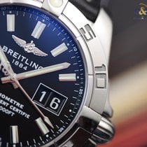 Breitling Galactic 41 Automatic Steel on Leather Black Indexes...