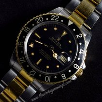 Rolex 16753 GMT Master Two-Tones Black Nipple Dial