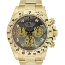 Rolex Daytona Cosmograph Gold Tahitian Mother of Pearl Diamond