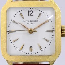 Patek Philippe 18K Gold Square white dial Vintage very rar...
