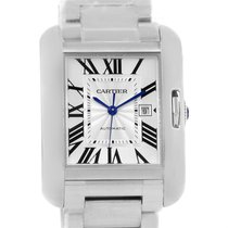 Cartier Tank Anglaise Steel Automatic Mens Watch W5310009 Unworn
