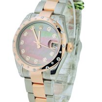 Rolex Unworn 178341bkmdo Datejust 31mm in Steel with Rose Gold...