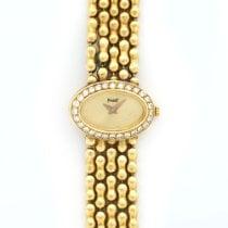 Piaget Ladies Yellow Gold with Diamond Bezel Oval Bracelet Watch