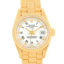 Rolex President Datejust 18k Yellow Gold White Dial Ladies...