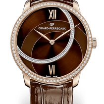 Girard Perregaux 1966 LADY 38 MM Pink Gold Strap Brown Dial...