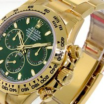 Rolex 116508 Daytona Yellow Gold Green Dial 116508