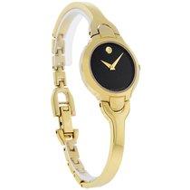 Movado Kara Ladies GoldTone Bangle Bracelet Swiss Quartz Watch...